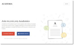Screenshot of Academia.edu
