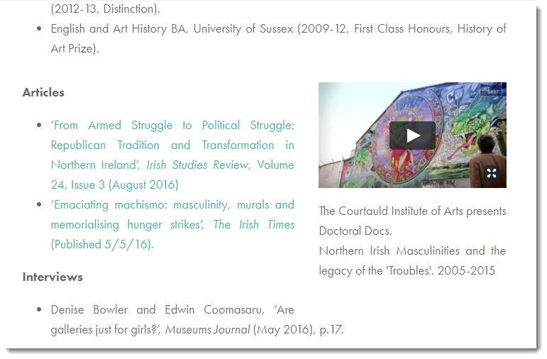 Screenshot of Edwin Coomasaru's profile