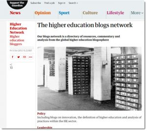 Screenshot of The Guardian Higher Education Blogs Network