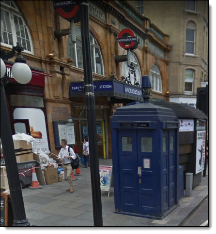 TARDIS on Google Street View