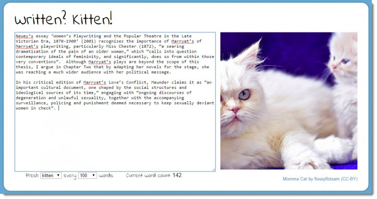 Screenshot of Written? Kitten!